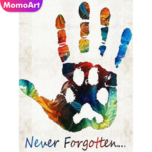 MomoArt Diamond Painting Hand Palm Embroidery Cartoon Mosaic Full Square/round Rhinestone Home Decoration