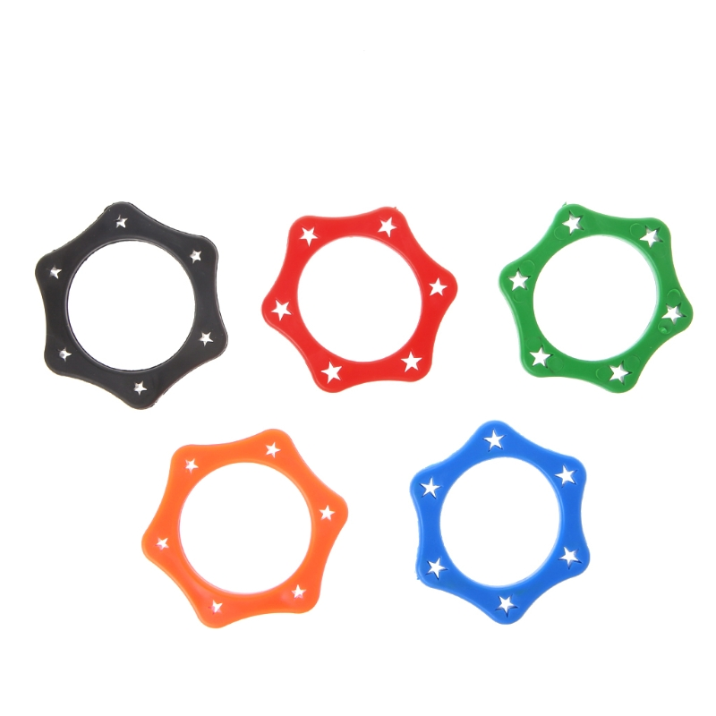 5 Pcs Rubber Anti Slip Roller Ring Protection For Handheld Wireless Microphone  Random Color