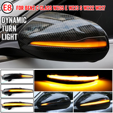 2Pcs LED Dynamic Turn Signal Blinker For Mercedes Benz C E S GLC W205 X253 W213 W222 Sequential Side Mirror Indicator Light
