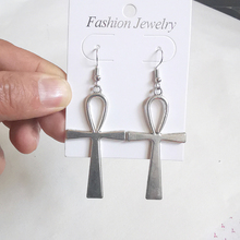 Egyptian Big Ankh Cross Dangle Drop Earrings for Women Vintage Fashion Statement Jewelry Minimalist Gothic Goth Accessories