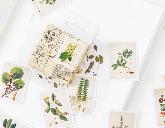 Plant Picture Diy Decorative Sticker(1pack=45pieces)
