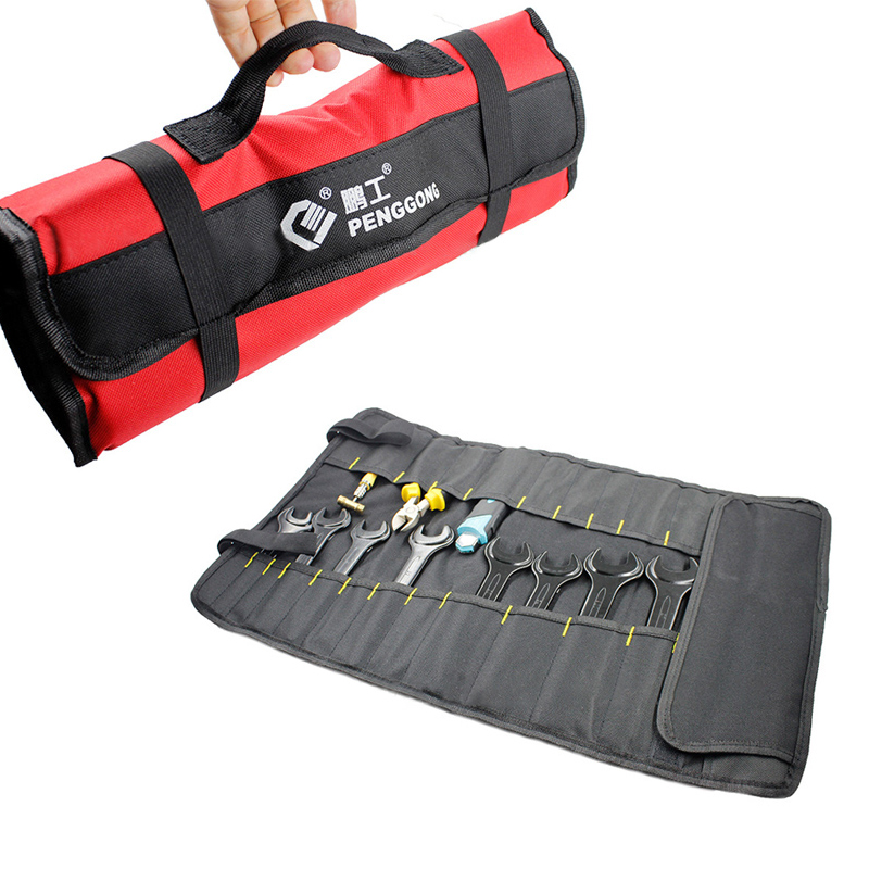 Folding Roll Bags For Tool For Tool Multifunction Tool Bags Practical Carrying Handles Oxford Canvas Chisel Tool Instrument Case