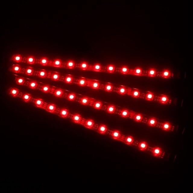 4 en 1 RGB LED bande lumières pied lampe voiture sol atmosphère lampe App Bluetooth contrôle voiture intérieur lumières son musique contrôle