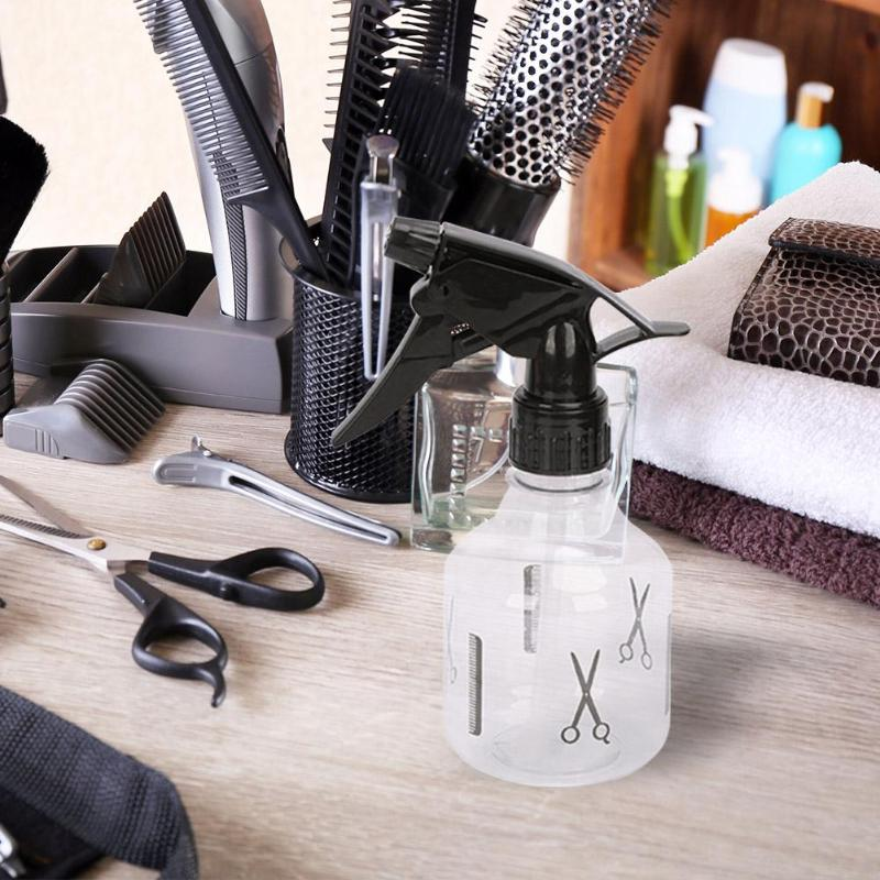 250ml Plastic Spray Bottle High-durability Exquisite Transparent Bottle Salon Barber Water Mist Sprayer DIY Hair Styling Tool