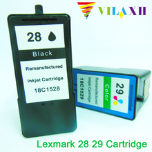 2PK Black & Color Ink Cartridge for Lexmark 28 29 For Z845