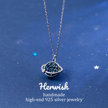 Herwish The Little Prince B612 Asteroid Blue Planet Entry Luxury Necklaces Pendants Crystal Necklace Fashion Women Jewelry