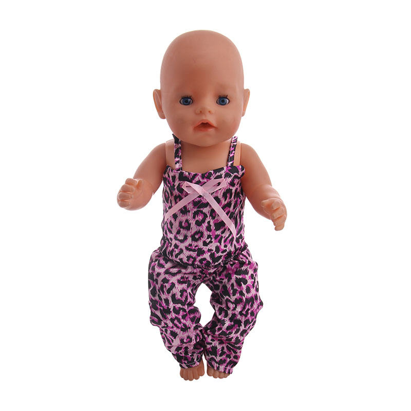 Leopard Print Stars With Bows Around Waist  Suitable 18-Inch American  And  43cm Baby Doll, A Generation Of Children's Gifts