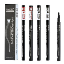 Dorpshipping doğal kaş kalemi dört pençe göz kaş tonu makyaj üç renk kaş kalemi kahverengi siyah gri VIP bağlantı