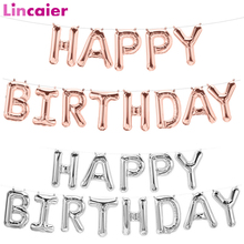 Lincaier 16 inch Happy Birthday Foil Balloons Baby Boy Girl First Birthday 1st One Party Decoration Garland Kids Adult-in Banners, Streamers & Confetti from Home & Garden on AliExpress