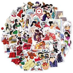 50Pcs Pack Anime Inuyasha Cartoon Stickers For Snowboard Luggage Scrapbook Laptop Skateboard Car Decal Sticker Stationery Toys