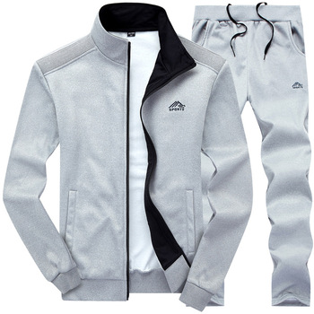 Tracksuits Men Polyester Sweatshirt Sporting Fleece   3