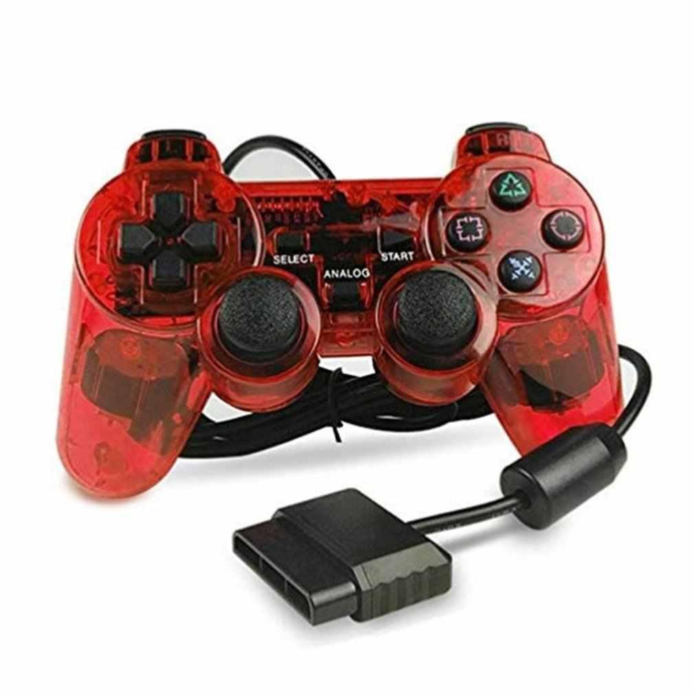有線ゲームパッド PS2 用マンドゥ PS2/PS2 用 plasystation 2 ダブル振動ショックジョイパッド有線 controle