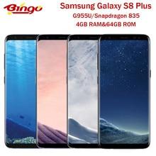 Samsung – téléphone portable Galaxy S8 + S8 Plus G955U/U1, Android, 4G, Snapdragon 835 Octa Core, écran de 6.2 pouces, appareils photo de 12 et 8 mpx, 4 go de RAM, 64 go de ROM, NFC, Original