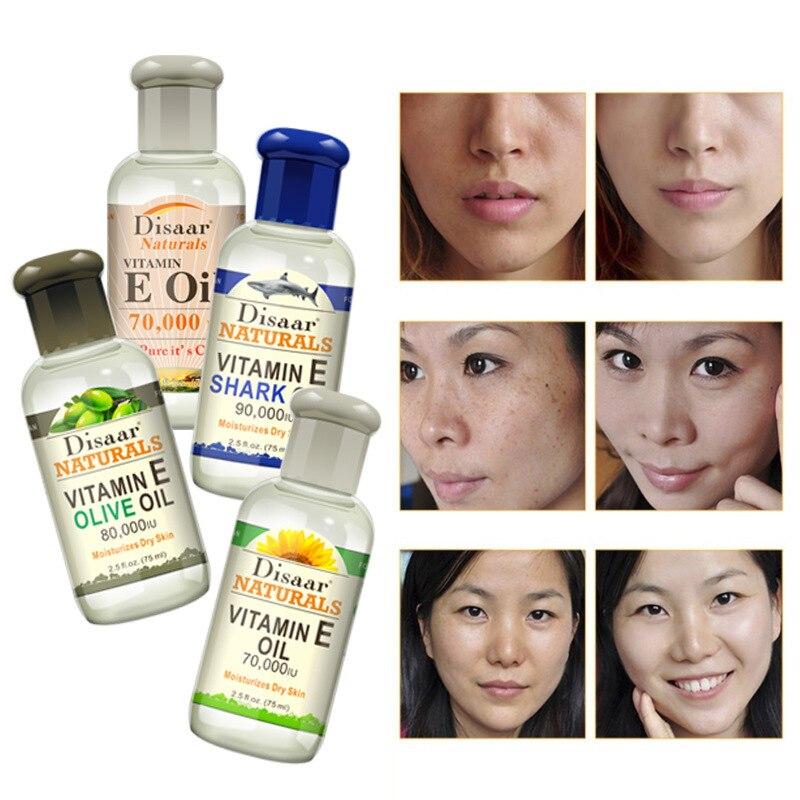 Disaar Natural Vitamin E Shark Sunflower Olive Oil 90,000 IU Moisturize Dry Skin Whitening, Moisturizing, Anti-wrinkle Face Care