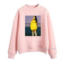 Pop Music Rock Female Singer Ariana grandeHoodie Vintage women's sweatshirt autumn winter clothes pink print hoodies lady hoody