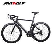 Bicicleta de carretera de carbono completa, incluye ruedas de carbono/manillar/Shiman-o, grupo original NK1K