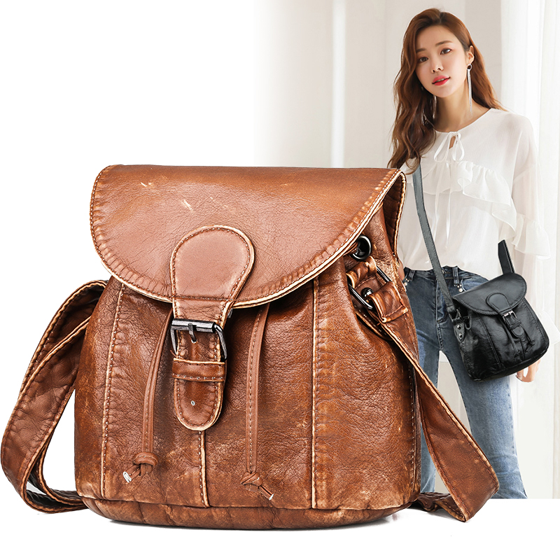 Vintage Women Handbag Luxury Fashion Shoulder Bags Women High Quality Leather Buckle Messenger Bag Designers Female handle Bags