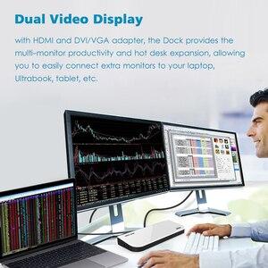 Image 5 - Wavlink Universal USB 3.0 Docking Station Dual Video Display Monitor RJ45 Gigabit Ethernet Support 1080P DVI/HDMI Working Online