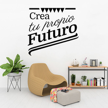 цена на Spanish French Quote Wall Sticker Art Vinyl Wallpaper For Living Room Bedroom Kitchen Home Decorative Wall Decal Stickers Mural