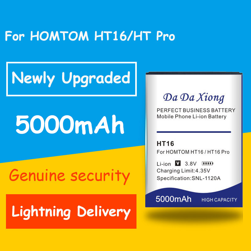 Free Shipping HT16 5000mAh Battery For <font><b>Homtom</b></font> HT16 HT <font><b>16</b></font> <font><b>Pro</b></font> Phone Replacement Batteria+Tracking Number image