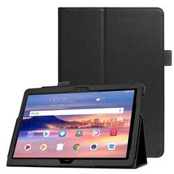 Etui intelligent pour Huawei MediaPad T5 10 housse de tablette support rabattable en cuir pour Huawei MediaPad T5 10.1