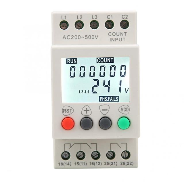 JVR800 2 저전압 보호 장치 3 상 전압 모니터링 시퀀스 보호 릴레이