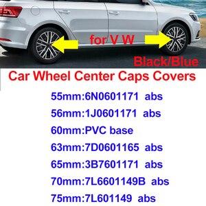 Для Passat B6 B7 CC MK5 MK6 Tiguan синий/черный 75 мм 70 мм 65 мм 63 мм 60 мм 56 мм 55 мм автомобильные диски покрывает Центральная втулка колеса автомобиля крышки