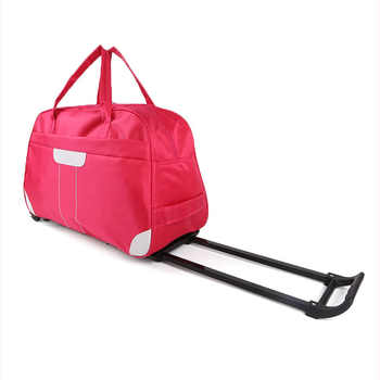 Women's Travel Bag on Wheels Large Men's Traveling Luggage Bags with Wheels Travel Bag Organizer Trip Hand Luggage Bag on Wheels - DISCOUNT ITEM  40% OFF All Category