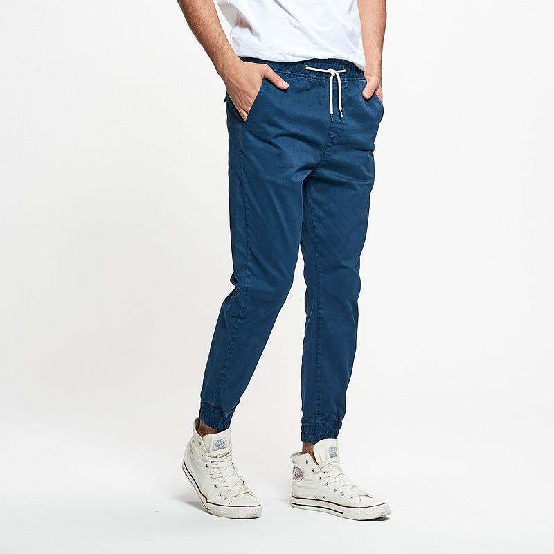 19 New Style Men's Casual Capri Pants Europe And America Popular Brand Men's Washing Drawstring Elastic Skinny Pants