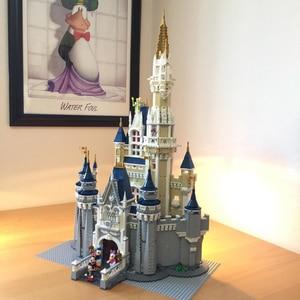 Image 2 - Cinderella Princess Castle Set mickey minnie architecture Building Blocks Bricks Compatible lepinglys 71040 girl Birthday Gifts