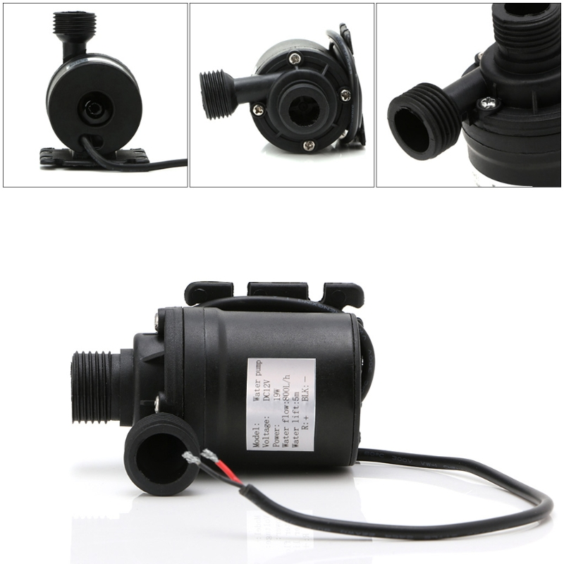 800L/H 5m DC 12V 24V Solar Water Heater Brushless Motor Circulation Water Pump