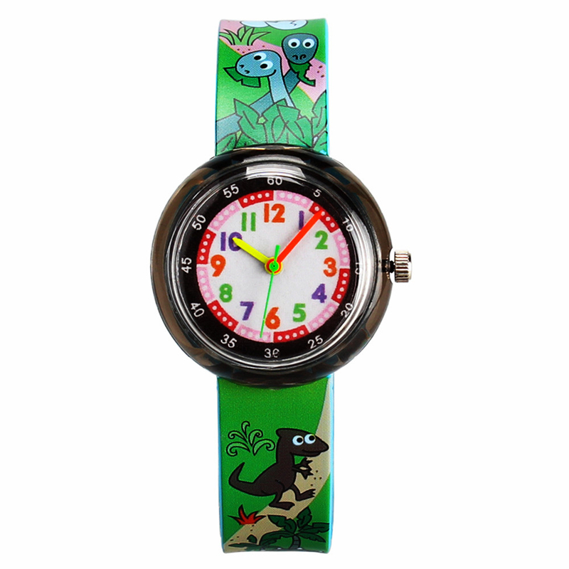 2019 New Children's Wrist Watch Army Green Sports Clock Cartoon Animal Hour Kid Boy Girl Baby Watches Child Gift Cute Character