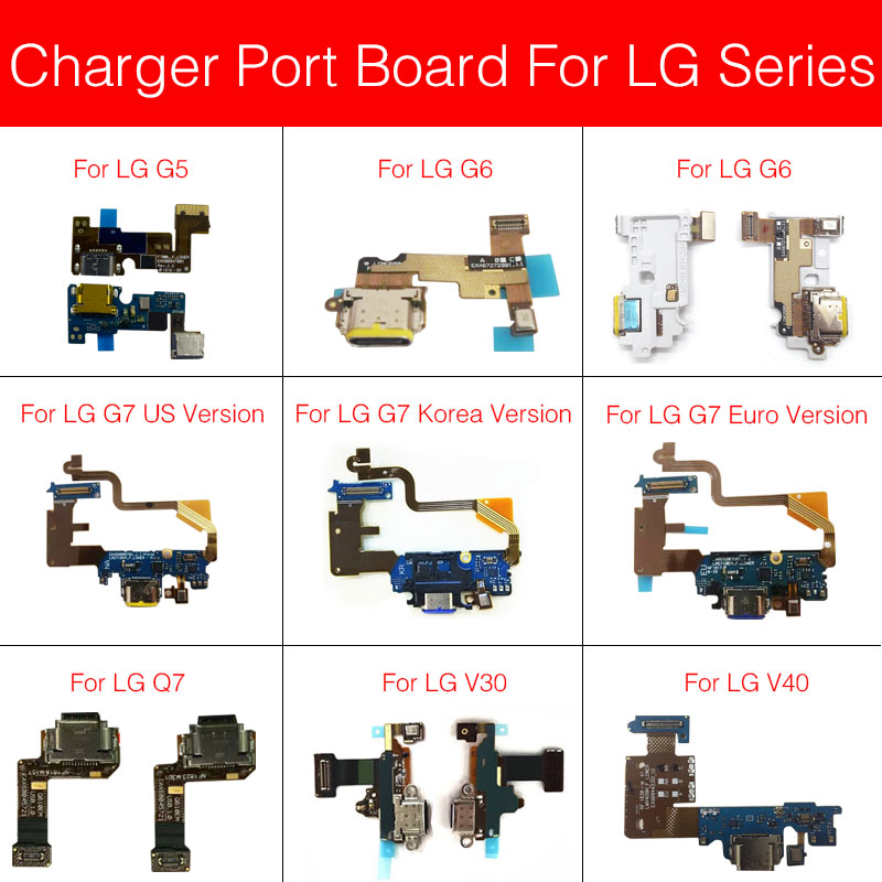 Charging USB Jack Board For LG G5 G6 G7 Q7 V30 V40 H830 H850 H860N H868 H930 H933 HinQ V405QA7 Usb Charger Jack Port Connector