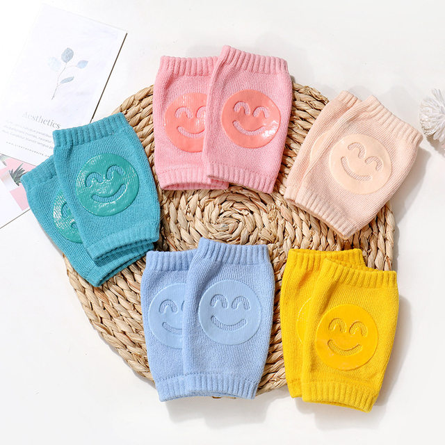 Kids Non Slip Crawling Elbow Infants Toddlers Baby Accessories Smile Knee Pads Protector Safety Kneepad Leg Warmer Girls Boys 2