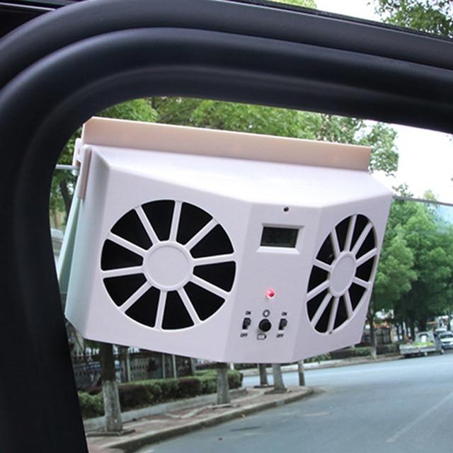 Car Solar Powered Exhaust Fan Auto Ventilation Fan Eco friendly Dual Mode Power Supply High Power Car Gills Cooler Portable