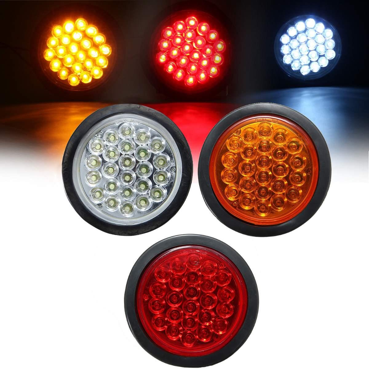 Universal Motorcycle ATV Bike 24SMD LED Rear Tail Light Brake Stop Lamp Red