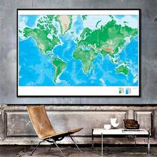 2x3ft World Elevation Map Simple Home Office Decor Canvas Painting For Living Room Wall Decorration painting frameless for living room wall decor drawing bald eagle fly diy oil coloring pictures by numbers on linen canvas