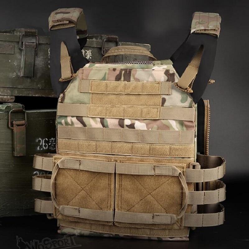 1000D Nylon Paintball Zip Molle Jump Plate Carrier Combat JPC 2.0  Vest