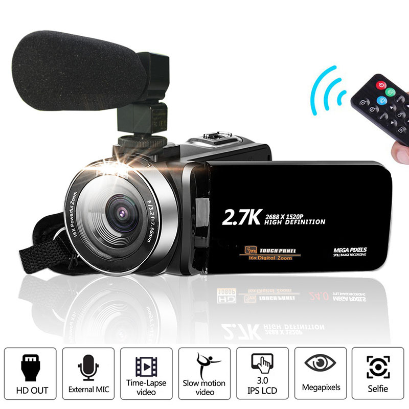 Видеокамера Full HD 1080P Vlog камера 30MP 16X цифровой зум lcd с шумоподавлением микрофон