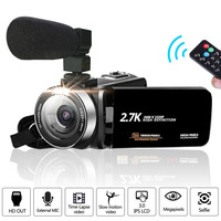 Video Camcorder Camera Full HD 1080P Vlog Camera 30MP 16X Digital Zoom LCD With Noise Canceling Microphone