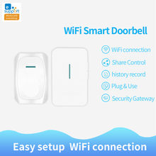 EWeLink WiFi inteligentny dzwonek łatwa konfiguracja APP dzwonek do drzwi zdalnie sterowany System bezpieczeństwa bezpieczeństwo w domu zestaw wielu kurantów Standard amerykański