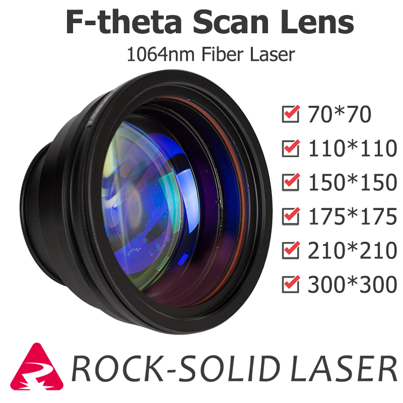 F-theta Scan Lens Optical Field Lens 1064nm EFL 100 163 210 254 330 420 Wavelength Fiber Laser Marker Parts Wholesale