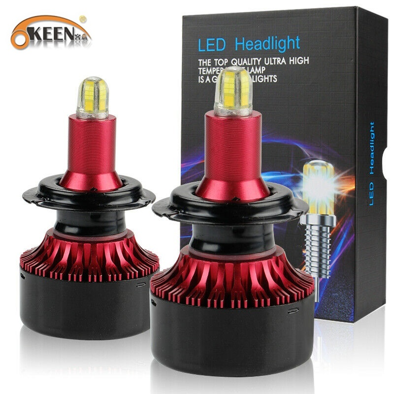 OKEEN 2pcs 8 Sides 13500LM H11 H7 Led Car Headlights Bulbs 6000K H8 H1 HB3 9005 HB4 9006 72W 3D 360 Degree Automotive Fog Lights