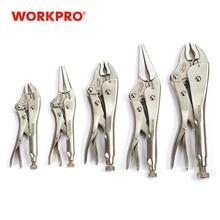WORKPRO Locking Pliers Adjustable Plier Set for Welder Long Nose Plier Welding Tools