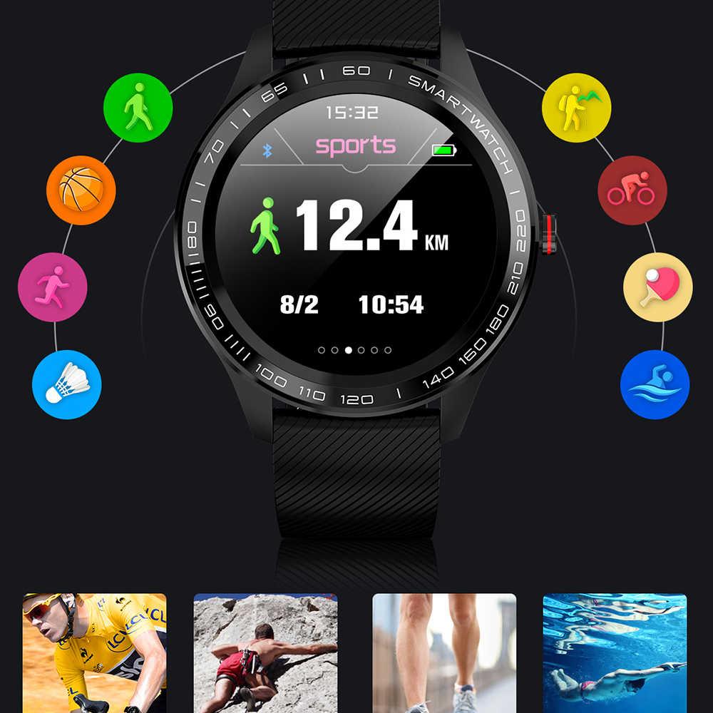 UTELITE L9 Men Smart Watch IP68 Waterproof ECG Heart Rate Blood Pressure Monitor Full Touch Screen Clock for Xiaomi Huawei Phone