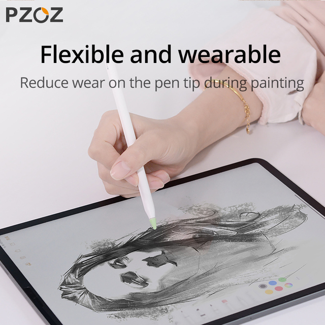 PZOZ 8 pcs for Apple Pencil 1 2 Tablet stylus Touch Pen nib case Soft silicone Protective case for apple Pen case touch cover 5