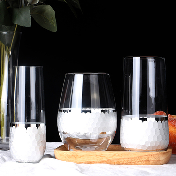 Creative crystal cup/wine glass honeycomb Set 2