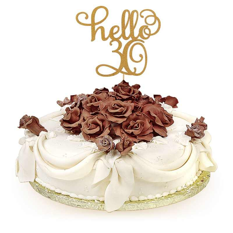 Cool Hello 21 30 40 50 60 Years Old Cake Decoration Card Happy Birthday Funny Birthday Cards Online Bapapcheapnameinfo