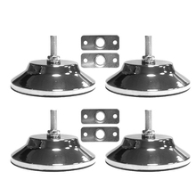 4 PCS Billiard/Pool Table Leg Levelers 5 Inch Metal Game Table Leg Levelers Heavy Duty Leveling Feets for Pool Table