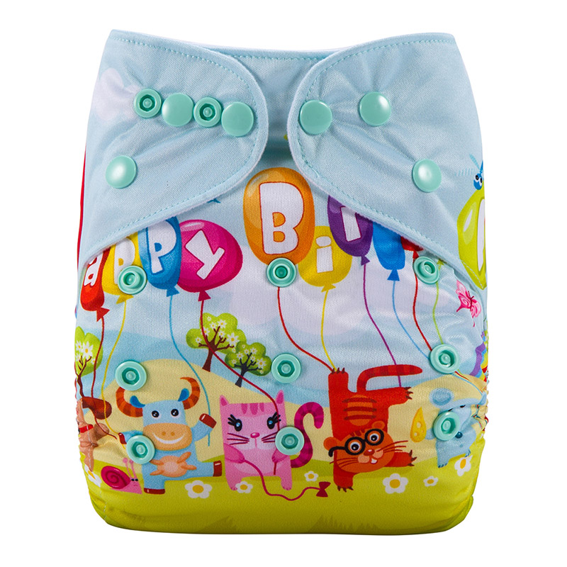 Waterproof Reusable Cloth Nappies Without Insert Washable Baby Cloth Diaper Nappy DY11